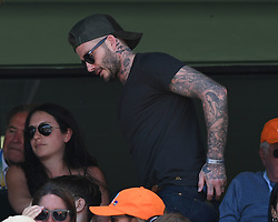 KEY BISCAYNE, FL - APRIL 01 : Victoria Beckham and David Beckham seen watching John Isner Vs Alexander Zverev during the mens final during the 2018 Miami Open at Crandon Park Tennis Center on April 1, 2018 in Key Biscayne, Florida. CAP/MPI04 ©MPI04/Capital Pictures. 01 Apr 2018 Pictured: David Beckham. Photo credit: MPI04/Capital Pictures / MEGA TheMegaAgency.com +1 888 505 6342