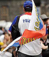 GEPA-2606087327 - WIEN,AUSTRIA,26.JUN.08 - FUSSBALL - UEFA Europameisterschaft, EURO 2008, Host City Fan Zone, Fanmeile, Fan Meile, Public Viewing. Bild zeigt einen Russland-Fan. <br />Foto: GEPA pictures/ Reinhard Mueller