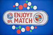 Enjoy the match elf logo during the EFL Sky Bet Championship match between Reading and Norwich City at the Madejski Stadium, Reading, England on 19 September 2018.