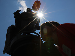 Binny Frenkel looks at the sun through a Celestron telescope with a white light solar filter during a solar eclipse shabbat at Ramah Darom on Monday, August 21, 2017, in Clayton, a city in the path of totality in North Georgia. Photo by Curtis Compton/Atlanta Journal-Constitution/TNS/ABACAPRESS.COM