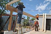 The Crest Construction crew starts building my new carport.