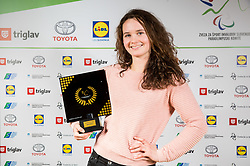 Anja Drev  during Slovenian Disabled Sports personality of the year 2017 event, on December 6, 2017 in Austria Trend Hotel, Ljubljana, Slovenia. Photo by Vid Ponikvar / Sportida