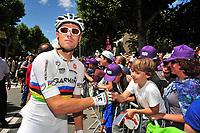 Sykkel<br /> 20.07.2011<br /> Foto: Gepa/Digitalsport<br /> NORWAY ONLY<br /> <br /> Tour de France 2011, 17. Etappe, Gap - Pinerolo. Bild zeigt Thor Hushovd (NOR/ Garmin) und Fans.