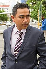 Wellington-Muhammad Rizalman, former Malaysian military attache in court