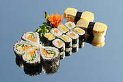 Assortment of Sushi including: Sushi Maki, futo maki, Insideout and nigiri