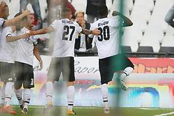 """Foto /Filippo Rubin<br /> 28/10/2017 Cesena (Italia)<br /> Sport Calcio<br /> Cesena vs Novara - Campionato di calcio Serie B ConTe.it 2017/2018 - Stadio """"Dino Manuzzi""""<br /> Nella foto: GOAL JALLOW LAMIN<br /> <br /> Photo /Filippo Rubin<br /> October 28, 2017 Cesena (Italy)<br /> Sport Soccer<br /> Cesena vs Novara - Italian Football Championship League B ConTe.it 2017/2018 - """"Dino Manuzzi"""" Stadium <br /> In the pic: GOAL JALLOW LAMIN"""