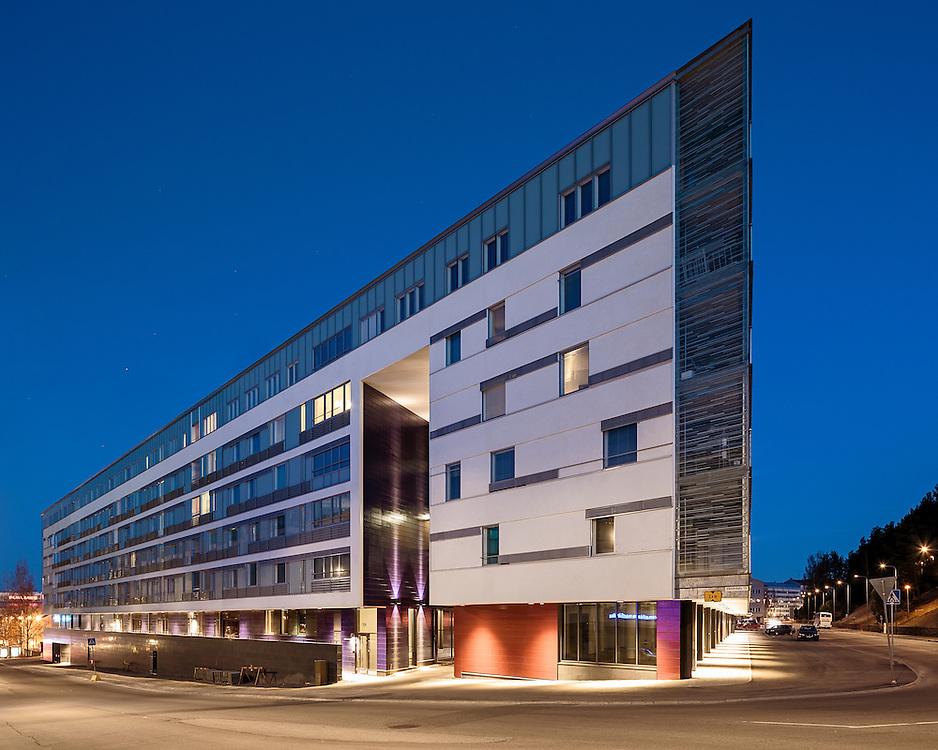 Harjunkulma housing in Jyväskylä, Finland designed by Kirsti Siven & Asko Takala architects.
