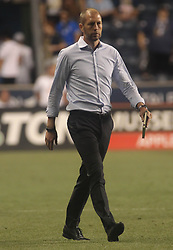 July 26, 2017 - Chester, PA, United States of America - Columbus Crew SC Manager GREGG BERHALTER walks off the after a 3-0 defeat to Philadelphia Union Wednesday, July. 26, 2017, at Talen Energy Stadium in Chester, PA. (Credit Image: © Saquan Stimpson via ZUMA Wire)