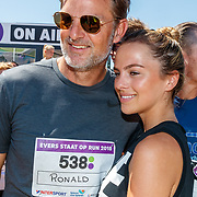 NLD/Amsterdam/20180701 - Evers staat op Run 2018, Ronald de Boer en dochter Fenna
