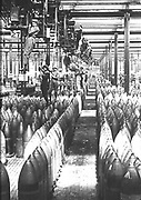 World War I  1914-1919: British women working in an armaments factory in Nottingham.