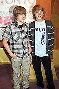 l to r: Dylan Sprouse and Cole Sprouse at the meet & greet of Stars of  Disney Channel's Hit Series' The Suite Life on Deck ' held at the World of Disney New York City Store in New York City on March 5, 2008