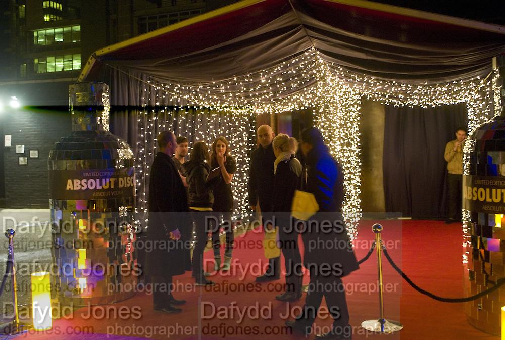 ENTRANCE, Absolut Vodka presents Absolut Disco. the Renaissance Rooms. off Miles St. Vauxhall. London. 8 November 2007. -DO NOT ARCHIVE-© Copyright Photograph by Dafydd Jones. 248 Clapham Rd. London SW9 0PZ. Tel 0207 820 0771. www.dafjones.com.