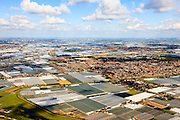 Nederland, Zuid-Holland, Gemeente Westland, 15-07-2012; Westland met kassen, kassengebied omgeving van 's-Gravenzande..Westland greenhouses, Greenhouse area between The Hague and Rotterdam..luchtfoto (toeslag); aerial photo (additional fee required). foto Siebe Swart / photo Siebe Swart