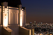 A night view of downtown Los Angeles from Griffith Observatory in Griffith Park.