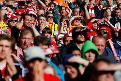 Bristol City fans react  in the stands - Photo mandatory by-line: Rogan Thomson/JMP - 07966 386802 - 22/03/2015 - SPORT - FOOTBALL - London, England - Wembley Stadium - Bristol City v Walsall - Johnstone's Paint Trophy Final.