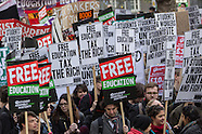 Students march in National demonstration for free education.