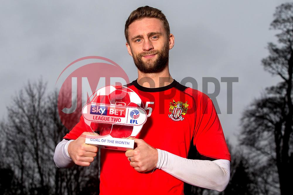 Fraser Franks of Stevenage receives the Sky Bet League Two Goal of the Month award for December- Mandatory by-line: Robbie Stephenson/JMP - 12/01/2017 - FOOTBALL - Stevenage FC Training Ground - Stevenage, England - Sky Bet League Two Goal of the Month