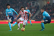 Stoke City midfielder Joe Allen (4)  during the Premier League match between Stoke City and Swansea City at the Britannia Stadium, Stoke-on-Trent, England on 31 October 2016. Photo by Simon Davies.
