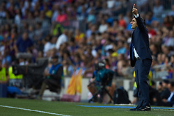 September 18, 2018 - Barcelona, Barcelona, Spain - Ernesto Valverde head coach of FC Barcelona in action during the UEFA Champions League group B match between FC Barcelona and PSV Eindhoven at Camp Nou on September 18, 2018 in Barcelona, Spain  (Credit Image: © Sergio Lopez/NurPhoto/ZUMA Press)