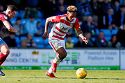 Doncaster Rovers forward Mallik Wilks (7), on loan from Leeds United in action  during the EFL Sky Bet League 1 match between Scunthorpe United and Doncaster Rovers at Glanford Park, Scunthorpe, England on 23 February 2019.