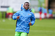 Forest Green Rovers Drissa Traoré(4) warming up during the Vanarama National League match between Forest Green Rovers and Barrow at the New Lawn, Forest Green, United Kingdom on 1 October 2016. Photo by Shane Healey.