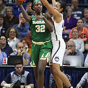 STORRS, CONNECTICUT- NOVEMBER 17: Beatrice Mompremier #32 of the Baylor Bears passes the ball while defended by Napheesa Collier #24 of the UConn Huskies during the UConn Huskies Vs Baylor Bears NCAA Women's Basketball game at Gampel Pavilion, on November 17th, 2016 in Storrs, Connecticut. (Photo by Tim Clayton/Corbis via Getty Images)
