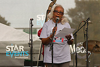 """The 12th annual Hyde Park Jazz Festival was held this weekend, Saturday, September 29th and Sunday, September 30th, 2018 at various venues around Hyde Park. Jazz musicians from all around came out to play at the two-day event. <br /> <br /> 3307 – Jean Wright spoke about her husband, the late jazz artist, John Wright during a tribute performance to him Sunday afternoon on the Midway Plaisance located at 1130 Midway Plaisance on the University of Chicago campus.<br /> <br /> Please 'Like' """"Spencer Bibbs Photography"""" on Facebook.<br /> <br /> Please leave a review for Spencer Bibbs Photography on Yelp.<br /> <br /> Please check me out on Twitter under Spencer Bibbs Photography.<br /> <br /> All rights to this photo are owned by Spencer Bibbs of Spencer Bibbs Photography and may only be used in any way shape or form, whole or in part with written permission by the owner of the photo, Spencer Bibbs.<br /> <br /> For all of your photography needs, please contact Spencer Bibbs at 773-895-4744. I can also be reached in the following ways:<br /> <br /> Website – www.spbdigitalconcepts.photoshelter.com<br /> <br /> Text - Text """"Spencer Bibbs"""" to 72727<br /> <br /> Email – spencerbibbsphotography@yahoo.com<br /> <br /> #SpencerBibbsPhotography #HydePark #Community #Neighborhood<br /> #Music<br /> #HydeParkJazzFestival<br /> #Jazz<br /> #LiveMusic"""
