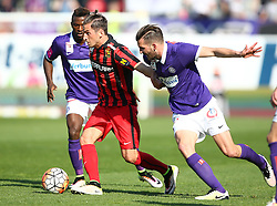 07.05.2016, Generali Arena, Wien, AUT, 1. FBL, FK Austria Wien vs FC Admira Wacker Moedling, 34. Runde, im Bild Olarenwaju Ayobami Kayode (FK Austria Wien), Christoph Knasmuellner (FC Admira Wacker Moedling) und Alexander Gorgon (FK Austria Wien) // during Austrian Football Bundesliga Match, 34th Round, between FK Austria Vienna and FC Admira Wacker Moedling at the Generali Arena, Vienna, Austria on 2016/05/07. EXPA Pictures © 2016, PhotoCredit: EXPA/ Thomas Haumer