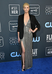 January 12, 2020, Santa Monica, California, USA: CHARLIZE THERON arrives for the 25th Annual Critics Choice Awards held at Barker Hangar. (Credit Image: © Birdie Thompson/AdMedia via ZUMA Wire)