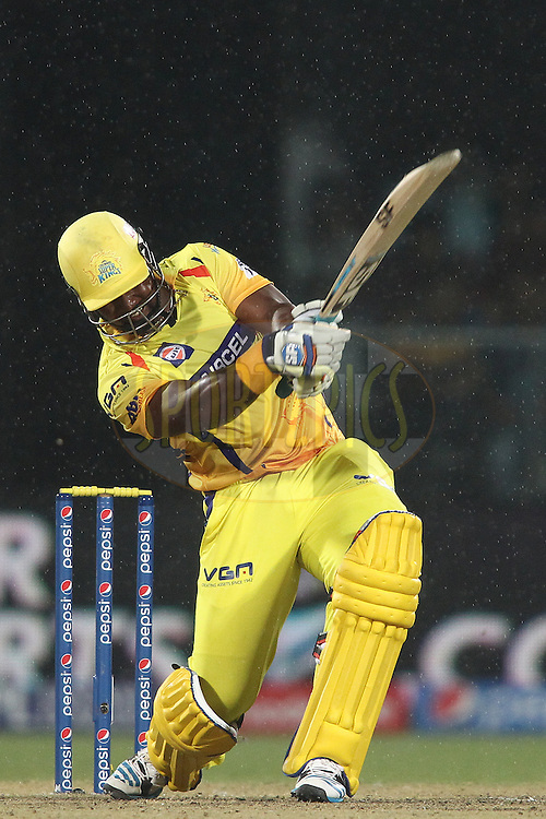 Dwayne Smith of The Chennai Super Kings hit over the top for a boundary during match 26 of the Pepsi Indian Premier League Season 2014 between the Delhi Daredevils and the Chennai Super Kings held at the Feroze Shah Kotla cricket stadium, Delhi, India on the 5th May  2014<br /> <br /> Photo by Shaun Roy / IPL / SPORTZPICS<br /> <br /> <br /> <br /> Image use subject to terms and conditions which can be found here:  http://sportzpics.photoshelter.com/gallery/Pepsi-IPL-Image-terms-and-conditions/G00004VW1IVJ.gB0/C0000TScjhBM6ikg
