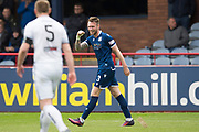 14th September 2019; Dens Park, Dundee, Scotland; Scottish Championship, Dundee Football Club versus Alloa Athletic; Jordan McGhee of Dundee celebrates after scoring for 2-1 in the 38th minute