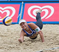 31-07-2014 AUT: FIVB Grandslam Volleybal, Klagenfurt<br /> Marleen van Iersel of Netherlands in action during women's main draw match <br /> ***NETHERLANDS ONLY***