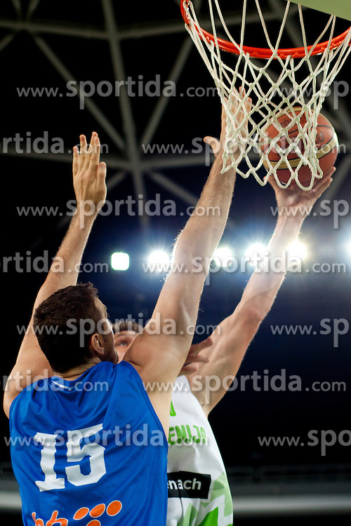 Nedzad Sinanovic of Bosnia during friendly basketball match between National teams of Slovenia and Bosnia i Hercegovina of Adecco Ex-Yu Cup 2012 as part of exhibition games 2012, on August 3rd, 2012, in Arena Stozice, Ljubljana, Slovenia. (Photo by Urban Urbanc / Sportida)