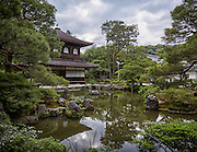 Ginkaku-ji, the Temple of the Silver Pavilion. This Zen temple dates back to 1482 although plans for the grounds were made as early as 1460.