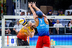 Tadej Bozenk during FIVB  Beach Volleyball World Tour Ljubljana 2018, on August 5, 2018 in Kongresni trg, Ljubljana, Slovenia. Photo by Ziga Zupan / Sportida