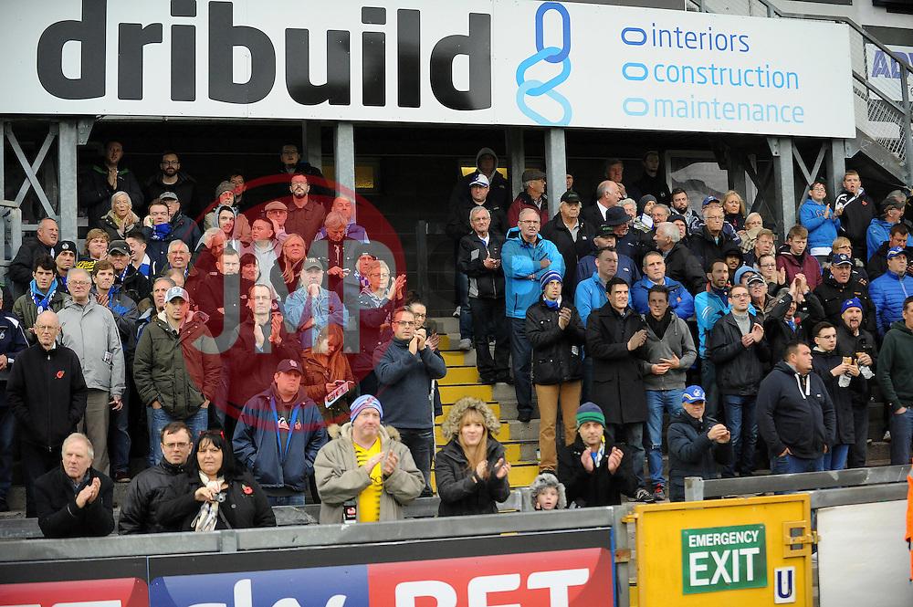 Fans - Mandatory byline: Neil Brookman/JMP - 07966 386802 - 08/11/2015 - FOOTBALL - Memorial Stadium - Bristol, England - Bristol Rovers v Chesham - FA Cup - Round One