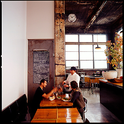 The Cluny Art Bar athe the Darling Foundry, a popular lunch spot with local artists.