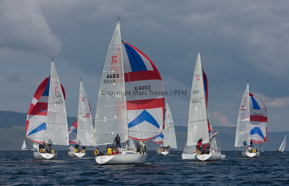 Day three of the Silvers Marine Scottish Series 2016, the largest sailing event in Scotland organised by the  Clyde Cruising Club<br /> Racing on Loch Fyne from 27th-30th May 2016<br /> <br /> Sigma 33 Fleet, GBR4603, Vendeval, Colin Greer, HSC, Sigma 33<br /> <br /> Credit : Marc Turner / CCC<br /> For further information contact<br /> Iain Hurrel<br /> Mobile : 07766 116451<br /> Email : info@marine.blast.com<br /> <br /> For a full list of Silvers Marine Scottish Series sponsors visit http://www.clyde.org/scottish-series/sponsors/