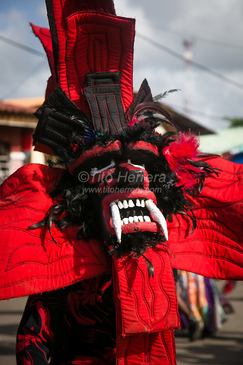 "Ash Wednesday celebration in the town of ""Nombre de Dios"" (Name of God) in the District of Portobelo, Province of Colon, Republic of Panama.  As part of the Ash Wednesday and Carnival celebration, people of Colon do traditional ""Diablos and Congos"" dances and games."