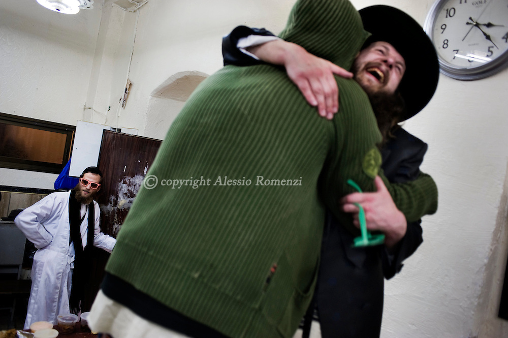 JERUSALEM - PURIM : Conservative Mea Shearim neighborhood in Jerusalem during the commemoration of the Jewish feast of Purim on March 01, 2010. The Jewish feast of Purim commemorates the salvation of the Jews from the ancient Persians as described in the book of Esther.© ALESSIO ROMENZI