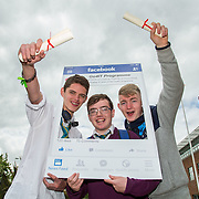 18.05.2016<br /> Limerick Institute of Technology (LIT) hosted a celebration of community and voluntary engagement in the LIT Millennium Theatre for the GO4IT & Give Graduation ceremony.<br /> Attending the event were GO4IT graduates, Jamie Griffin, Calvin Moynihan and Trick Fahey, St. Nessans. Picture: Alan Place/Fusionshooters