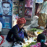 Myanmar (Burma). Inle lake. Nyaungshwe town. Mingala market.