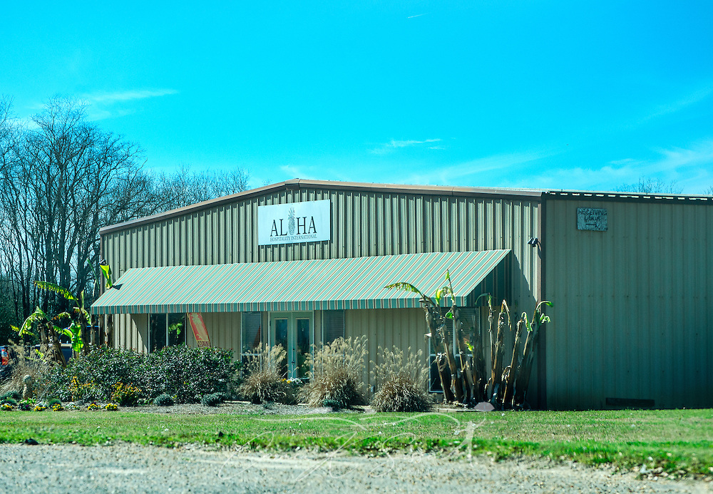 """Aloha Hospitality International is pictured, March 6, 2016, in Loxley, Alabama. The building was previously used for A Step Ahead Christian Day Care. The day care, now closed, is one of several owner Deborah Stokes has opened over the past few years. Alleged problems and violations have brought the day cares under scrutiny, with critics saying that because the businesses operate as Christian day cares, they slip through a """"religious loophole"""" that allows them to bypass the licensing and safety standards required of non-Christian day cares. Stokes now operates another day care, Little Nemo's, in Spanish Fort, Alabama. (Photo by Carmen K. Sisson/Cloudybright)"""