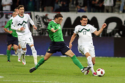 during the Euro 2012 qualifying soccer match between National teams of Slovenia and Northern Ireland, on September 3, 2010 in Stadium Ljudski vrt, Maribor, Slovenia. (Photo by Marjan Kelner / Sportida)