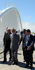 New Plymouth-Royals, Prince Charles walks coastal walkway