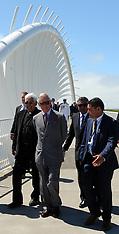 New Plymouth-Royals, Prince Charles walks coastal walkway