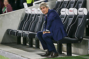West Ham United manager Manuel Pellegrini during the Premier League match between Brighton and Hove Albion and West Ham United at the American Express Community Stadium, Brighton and Hove, England on 5 October 2018.