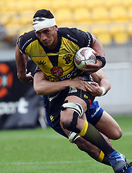 Wellington's Galu Taufale against Otago in the Mitre 10 Rugby match at Westpac Stadium, Wellington, New Zealand, Sunday October 01,, 2017. Credit:SNPA / Ross Setford  **NO ARCHIVING**