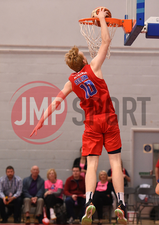 Mathias Seilund of Bristol Flyers scores a basket  - Photo mandatory by-line: Joe Meredith/JMP - Mobile: 07966 386802 - 10/10/2015 - BASKETBALL - SGS Wise Arena - Bristol, England - Bristol Flyers v Newcastle Eagles - British Basketball League