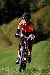 MTB Rider Blaza Klemencic of Pintatim, on October 18, 2005, Bukovscica  pri Skofji Loki, Slovenia. (Photo by Vid Ponikvar / Sportal Images)../ Sportida)